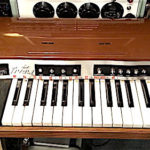 vintage keyboard organ drum machine