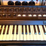 moog vintage synth keyboard